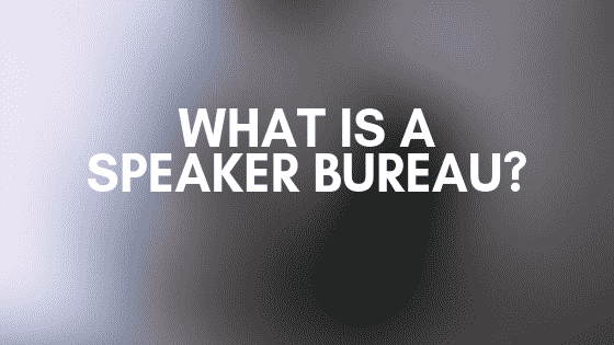 What is a speaker bureau?